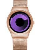 Skone Oldbury Rose Gold Unisex Purple Watch - 40mm Case