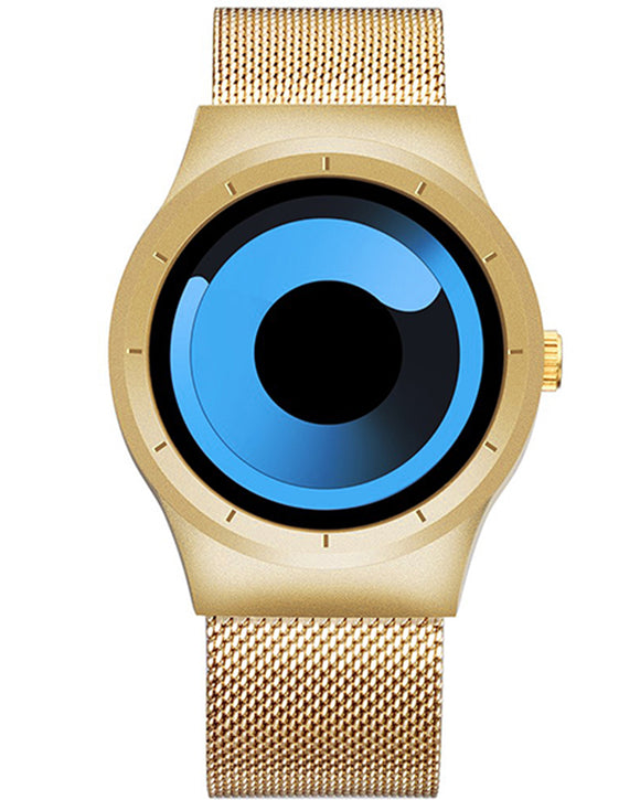 Skone Oldbury Gold Unisex Blue Watch - 40mm Case