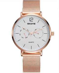 Skone Chiswick Rose Gold & White Watch - 40mm Case