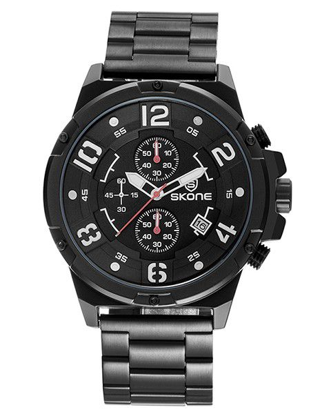 Skone Men's Kenilworth Watch - Black Link Strap