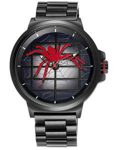 "Skone ""Into The Spider Web"" Iconic 3 Bead Link Mens Watch - Black"