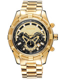 Skone Yachtsman Steel Men's Watch Gold