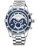 Skone Yachtsman Steel Watch Marine Blue Dial