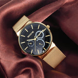Skone Newall Chronograph Men's Watch - Gold