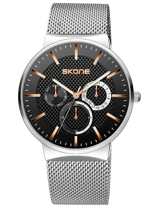 Skone Newall Chronograph Men's Watch - Silver