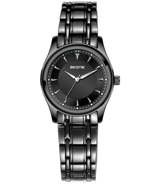 Skone Lawrence Steel Ladies Watch - Black Link Strap
