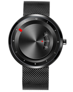 Skone Black Miller Quartz Movement Watch