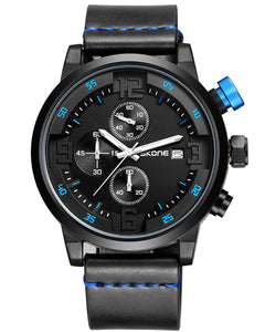 Skone Black Bennett Chronograph Mens Analogue Watch - Blue