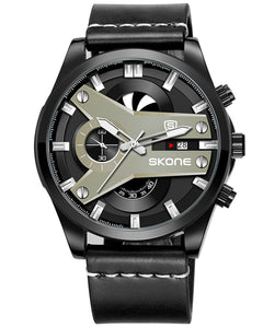 Skone Fletcher Black Chronograph Men's Watch - White