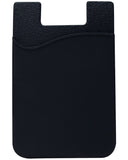 Cell Phone Stick-on Wallet Thin Silicone Credit Card Holder - Black