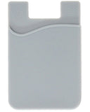 Cell Phone Stick-on wallet Thin Silicone Credit Card Holder - Grey