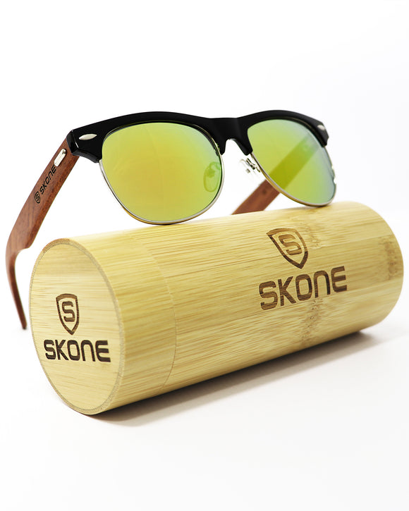 Skone Bondi Black UV400 Protection Rosewood Sunglasses