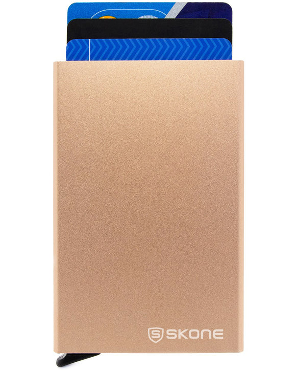 Slim Minimalist Wallet and Card Holder - RFID Blocking - Champagne Gold