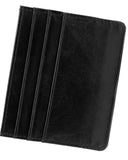 Minimalist Wallet - Genuine Leather - RFID Blocking-Black