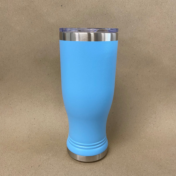 Custom Light Blue Pilsner Tumbler