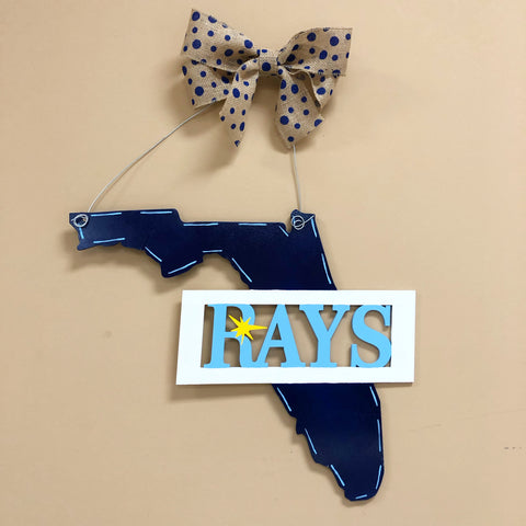 Tampa Bay Rays Door Sign