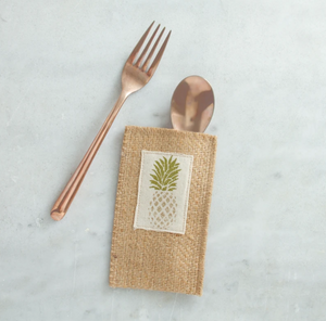 Pineapple Silverware Pouches