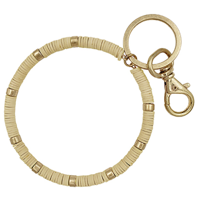 Beige Key Ring