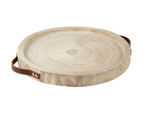 Paulownia Leather Tray