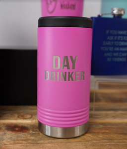 Pink Personalized Skinny Can Koozie