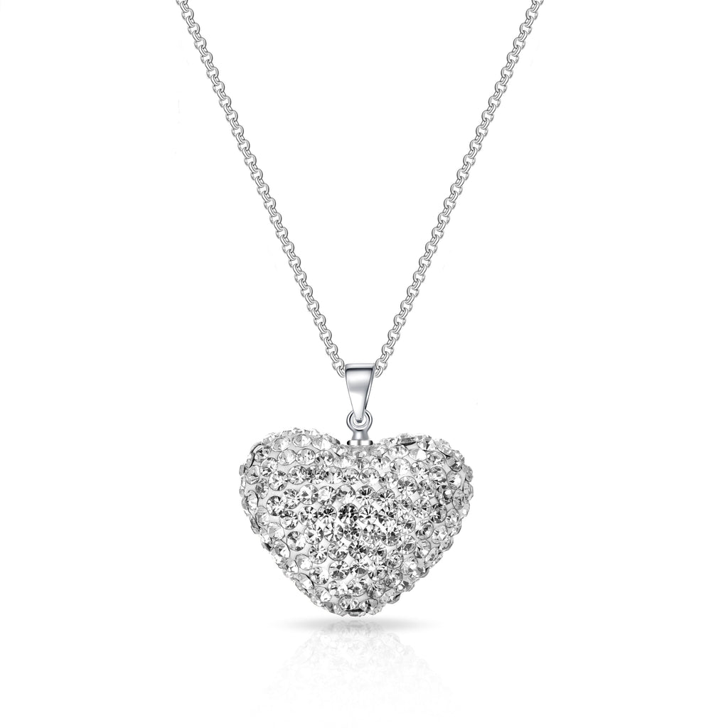 Pave Crystal Heart Necklace