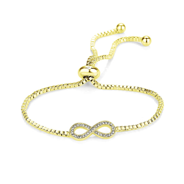 Gold-Tone Infinity Friendship Bracelet