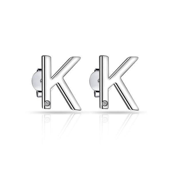 Initial Earrings Letter K