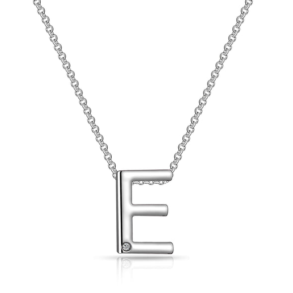 Initial Necklace Letter E