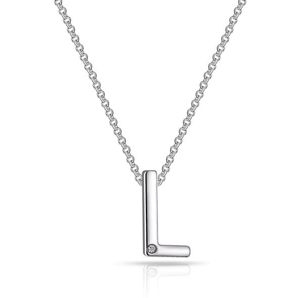 Initial Necklace Letter L