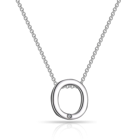 Initial Necklace Letter O