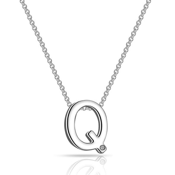 Initial Necklace Letter Q