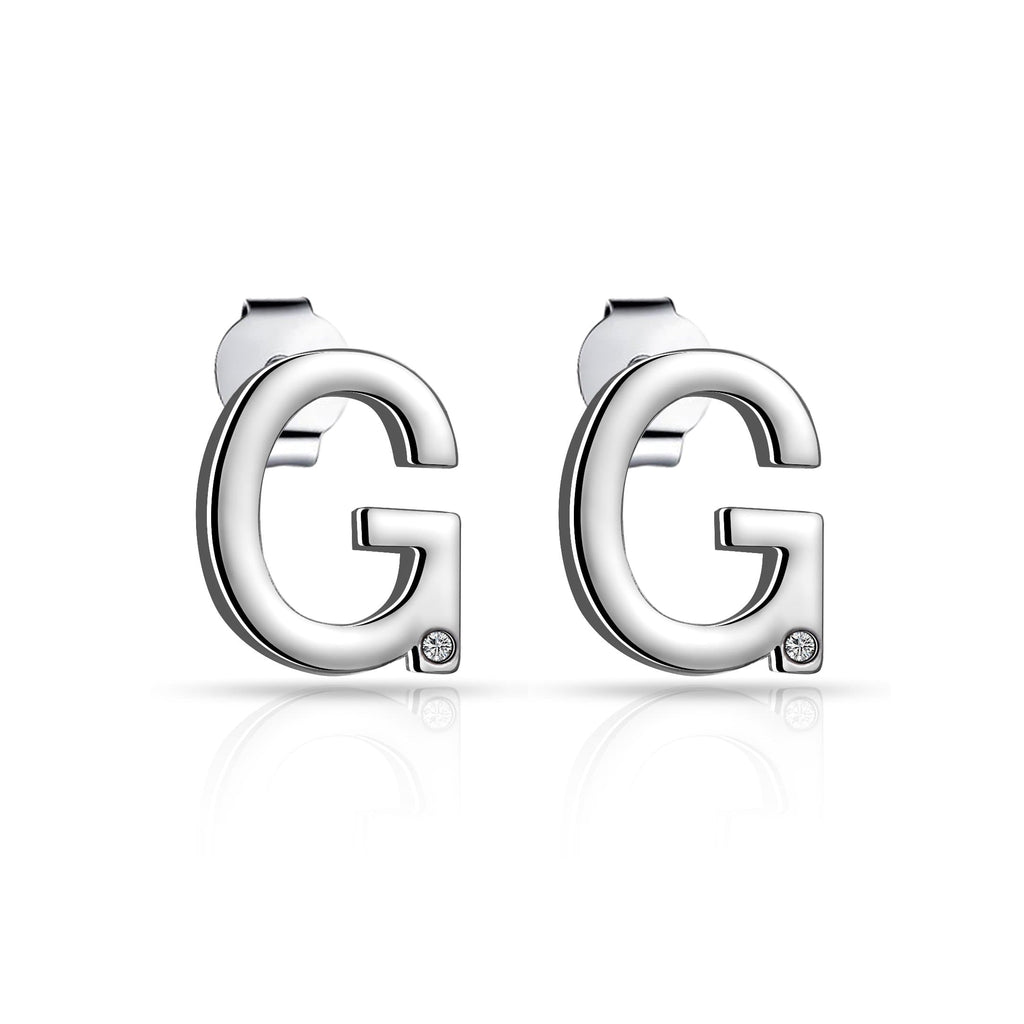 Initial Earrings Letter G Created with Swarovski® Crystals