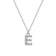 Pave Initial Necklace Letter E Created with Swarovski® Crystals