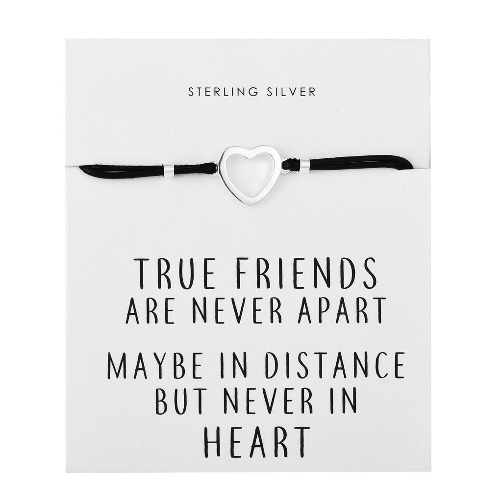 Sterling Silver Heart Quote Bracelet