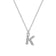 Pave Initial Necklace Letter K Created with Swarovski® Crystals