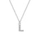 Pave Initial Necklace Letter L Created with Swarovski® Crystals