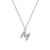 Pave Initial Necklace Letter M Created with Swarovski® Crystals