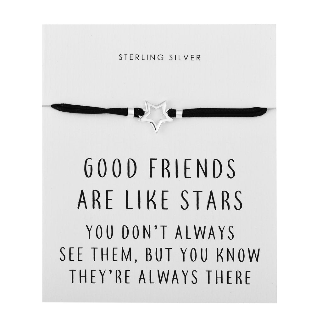 Sterling Silver Star Quote Bracelet
