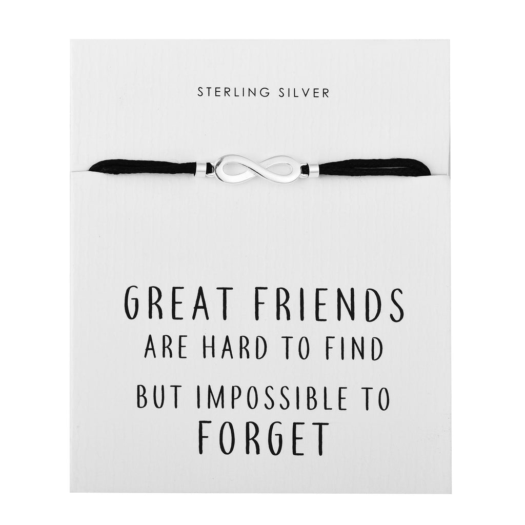 Sterling Silver Infinity Quote Bracelet