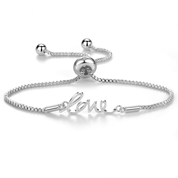 Silver Love Bracelet Created with Swarovski® Crystals