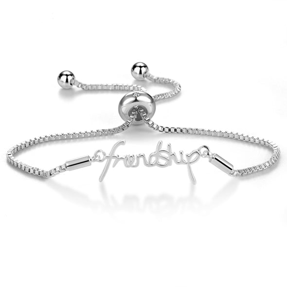 Silver Friendship Bracelet Created with Swarovski® Crystals