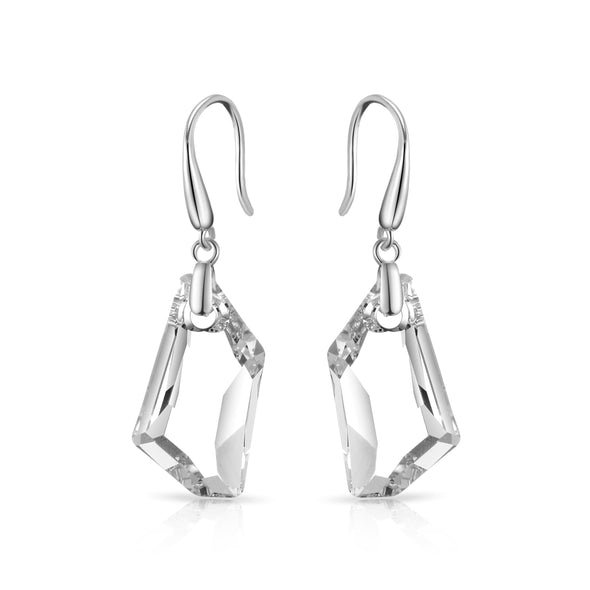 Sterling Silver Icecube Drop Earrings Created with Swarovski Crystals