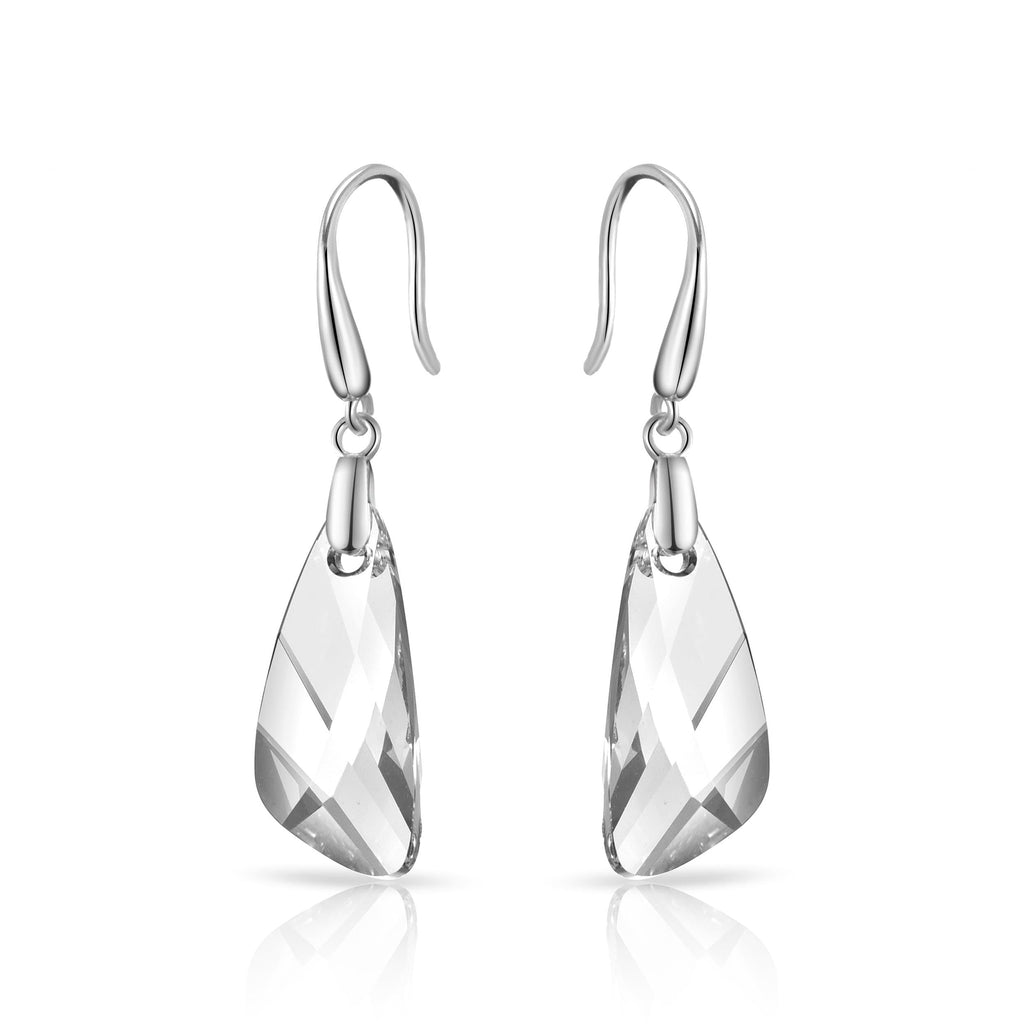 Sterling Silver Iceberg Drop Earrings Created with Swarovski® Crystals