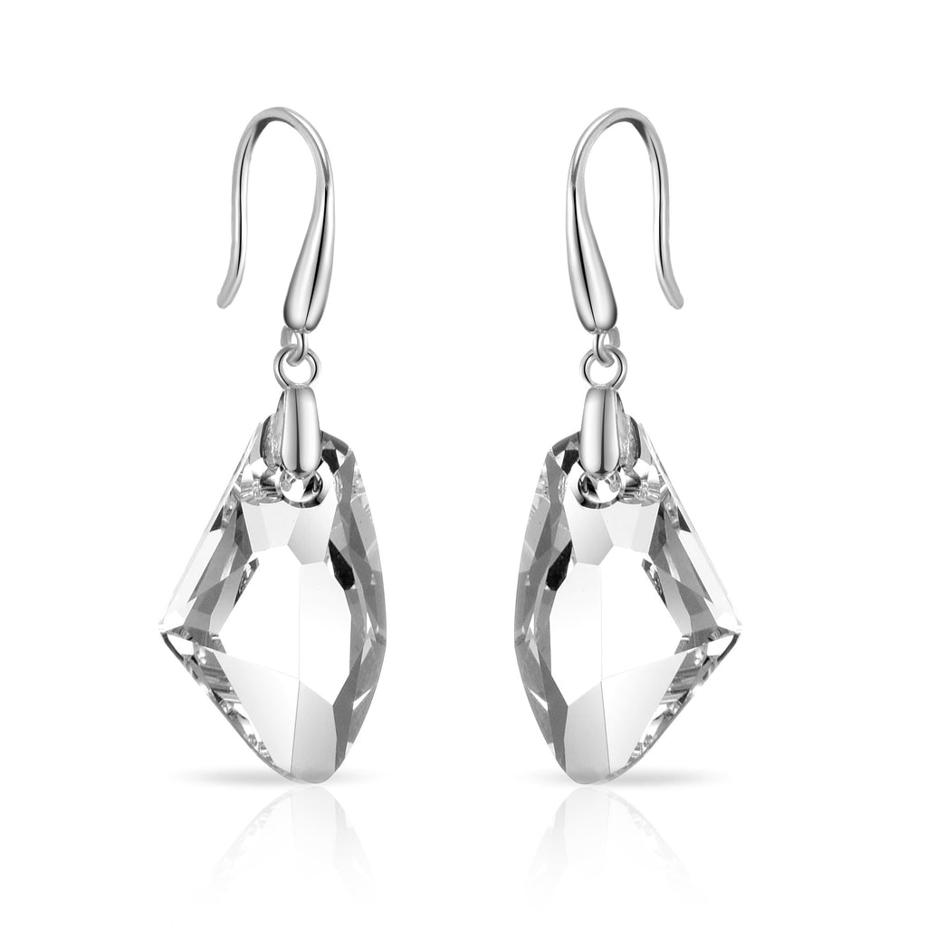 Sterling Silver Icecap Drop Earrings Created with Swarovski® Crystals