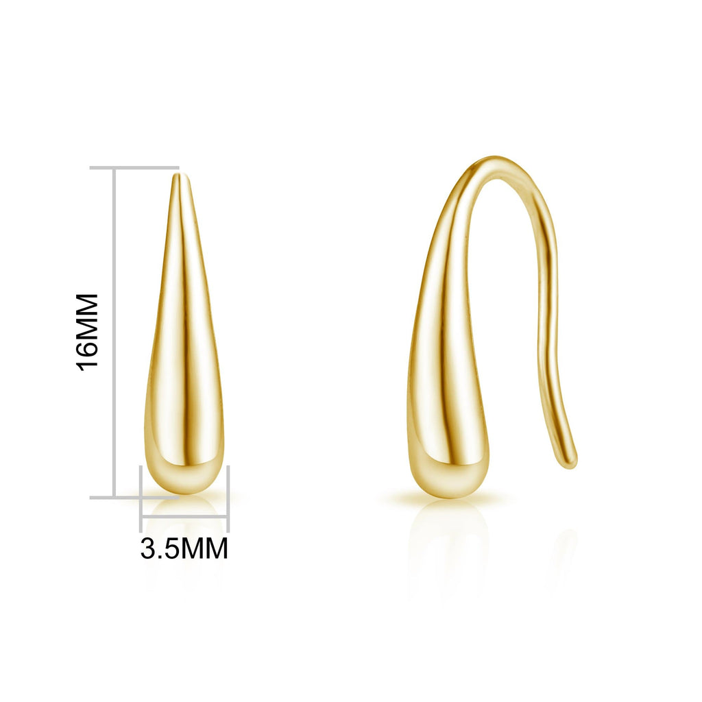 Gold Sterling Silver Teardrop Earrings