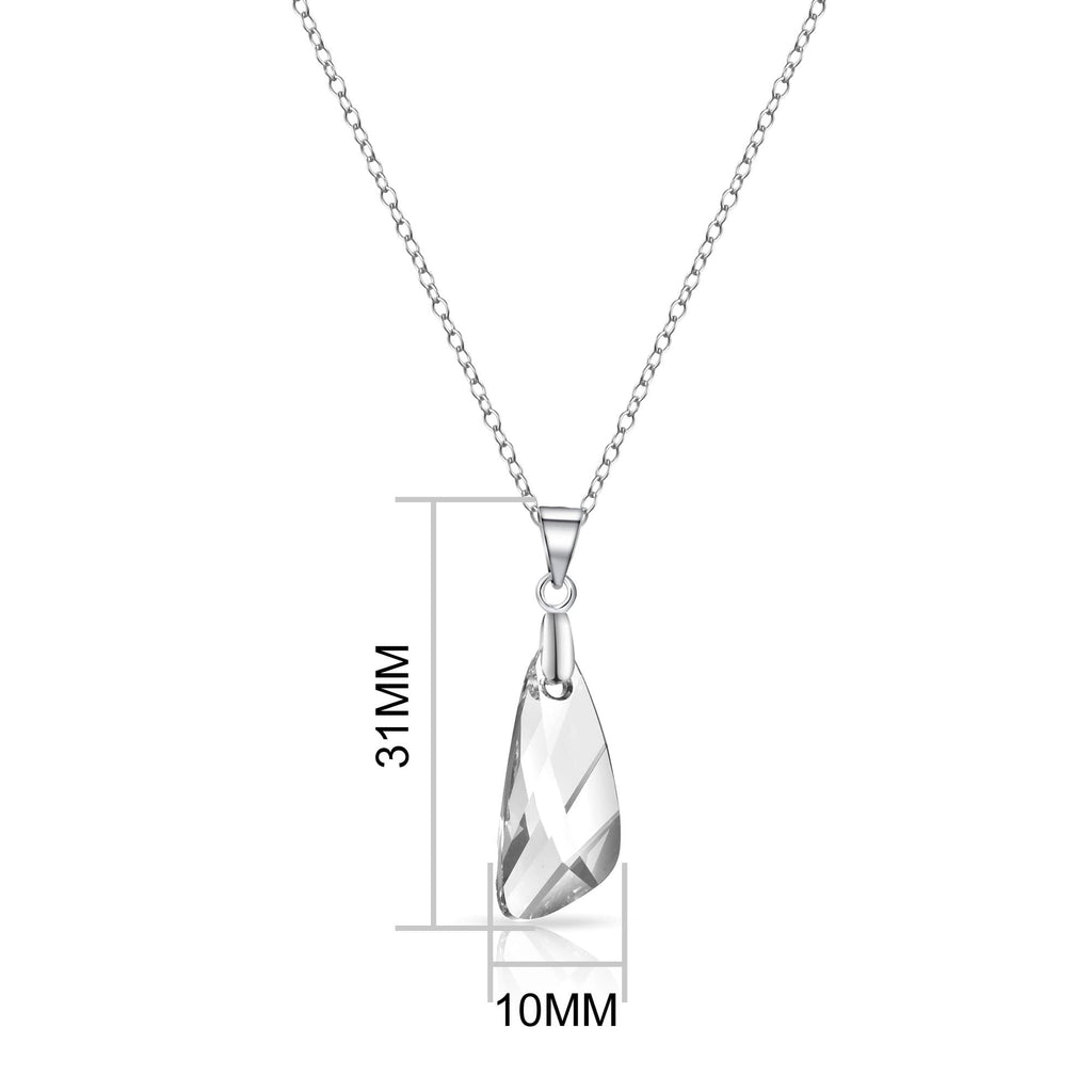 Sterling Silver Iceberg Drop Necklace Created with Swarovski Crystals