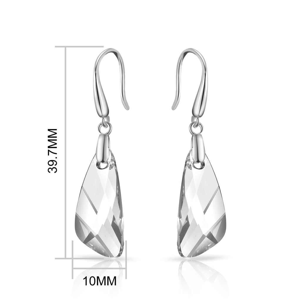 Sterling Silver Iceberg Drop Earrings Created with Swarovski Crystals