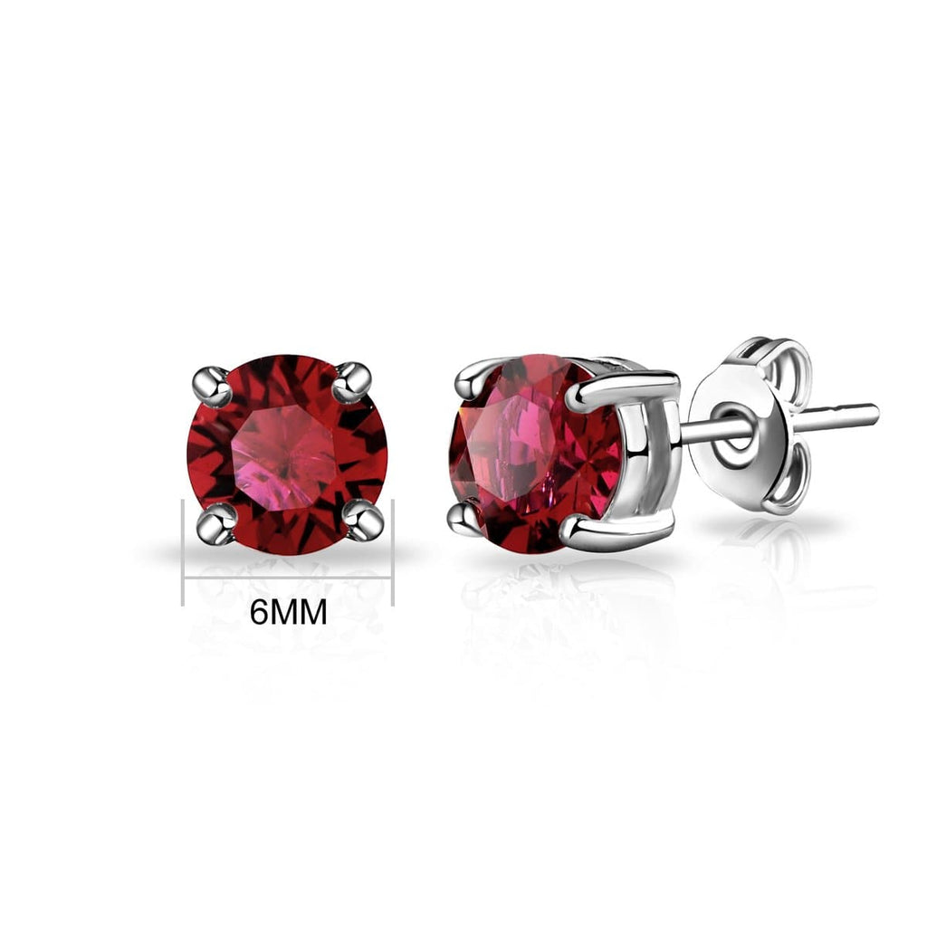 January (Garnet) Birthstone Earrings Created with Swarovski Crystals
