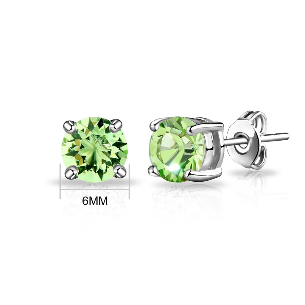 August (Peridot) Birthstone Earrings Created with Swarovski Crystals