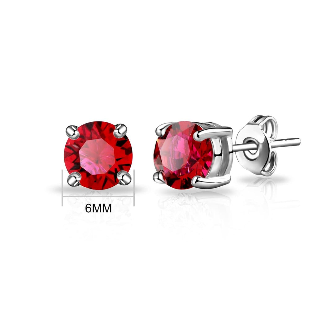 July (Ruby) Birthstone Earrings Created with Swarovski Crystals